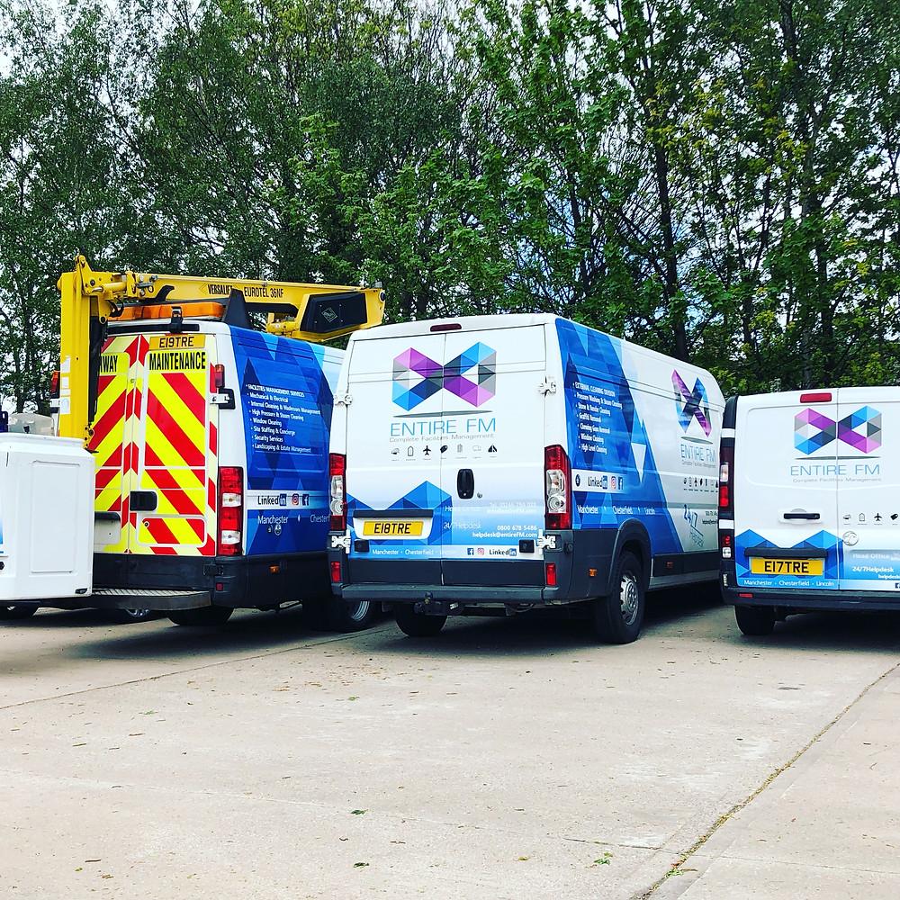 Facilities management vehicles