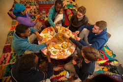 Host family meal