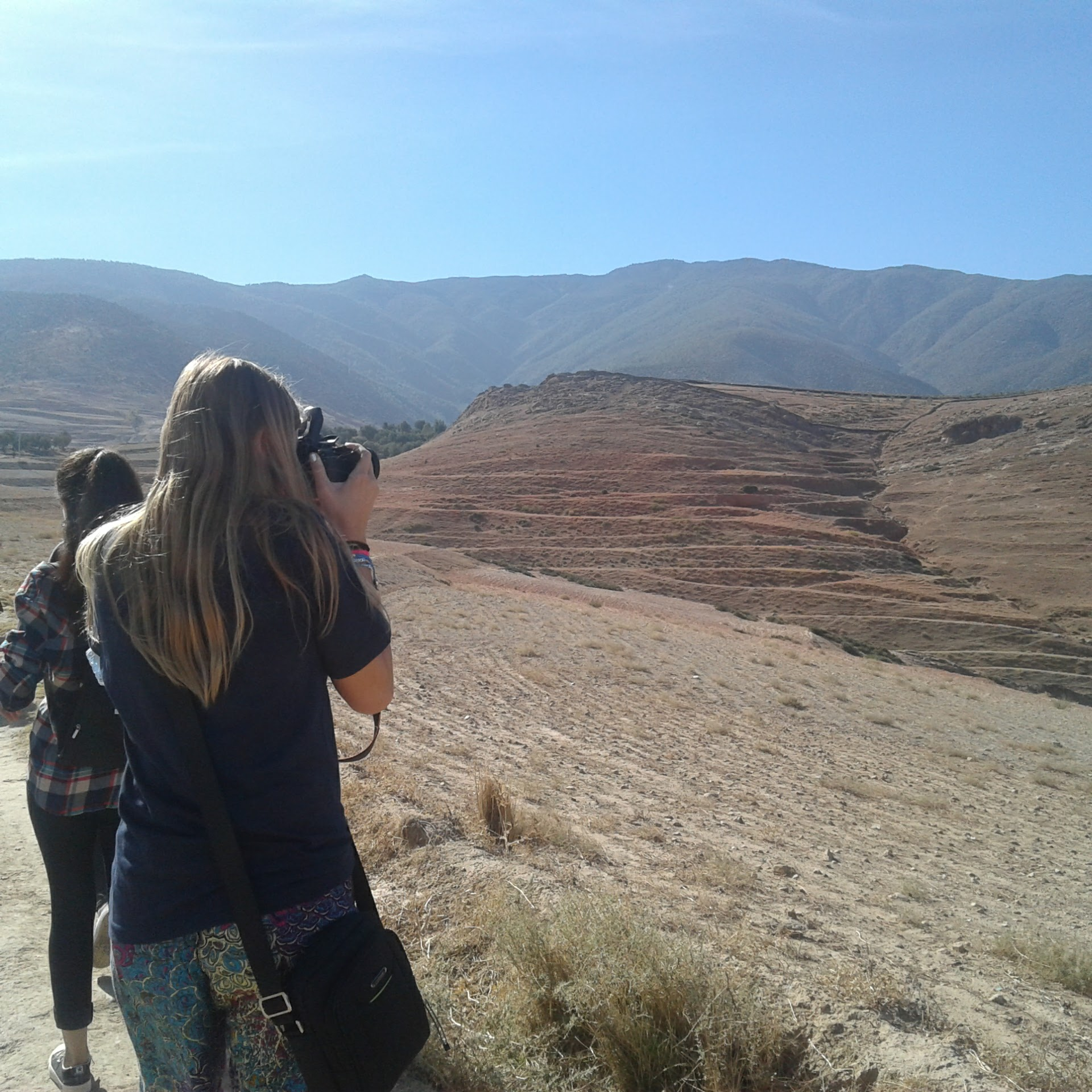 Photographing terraced hills