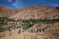 Students Hiking near Todras Gorge