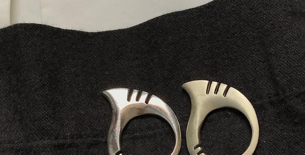 Pair of Venice rings in silver