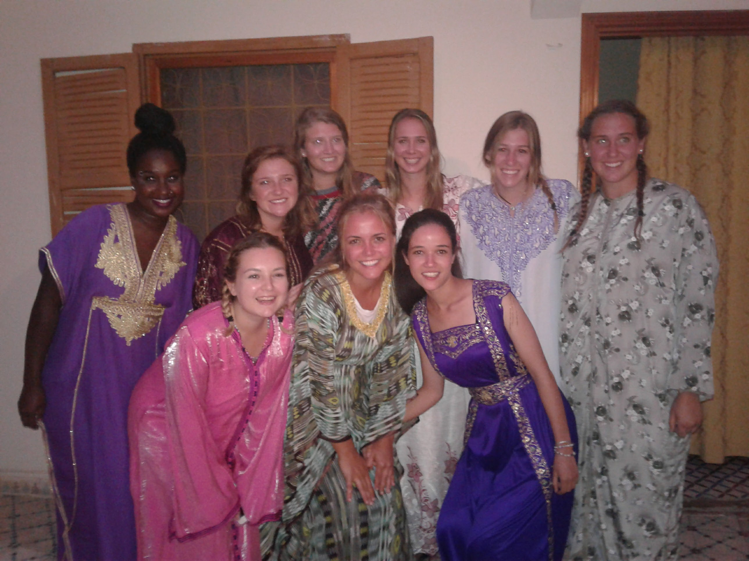 Celebrating in Moroccan dresses