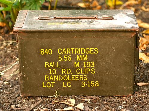 Vintage WW2 Ammo box