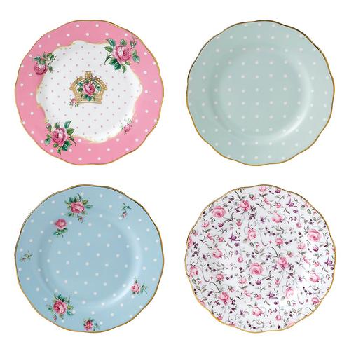 Set of 4 Royal Albert Sandwich plates