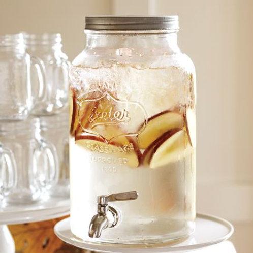 Glass Drink Dispenser/Jar with tap