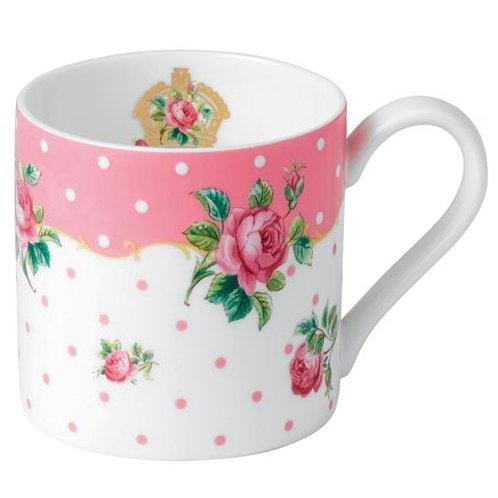 Set of 2 Royal Albert Pink Coffee Mugs