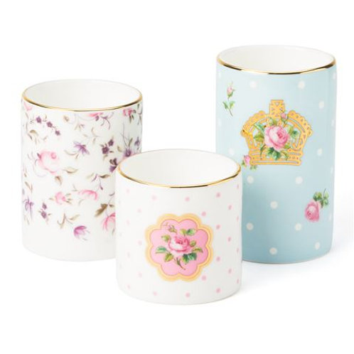 Set of 3 Royal Albert Tea light holders