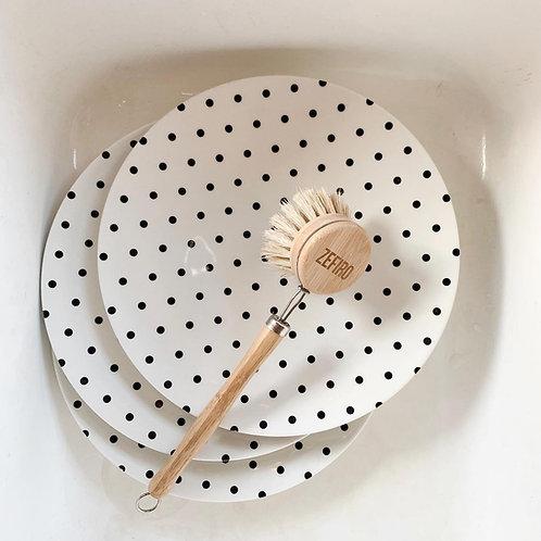 Brosse à récurer en bambou et sisal
