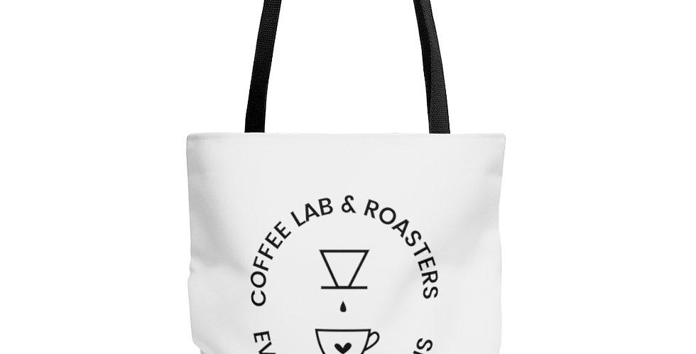 AOP Caffeine Molecule Tote Bag