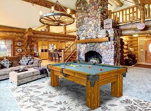 Rustic-Ranch-log-Cabin-pool-table-by-Vis
