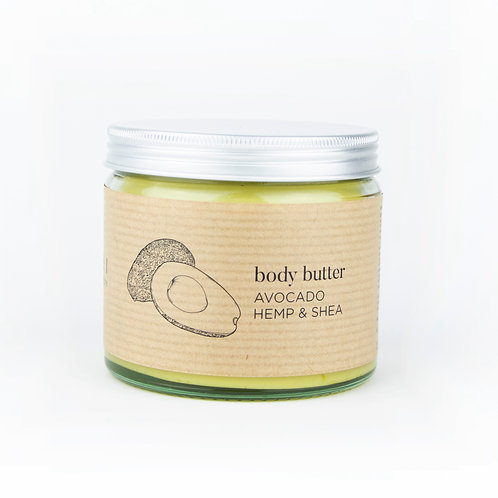 Body Butter: Avocado, Hemp and Shea