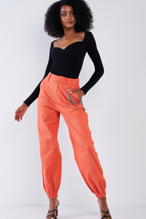 Parachute Pants with Chain