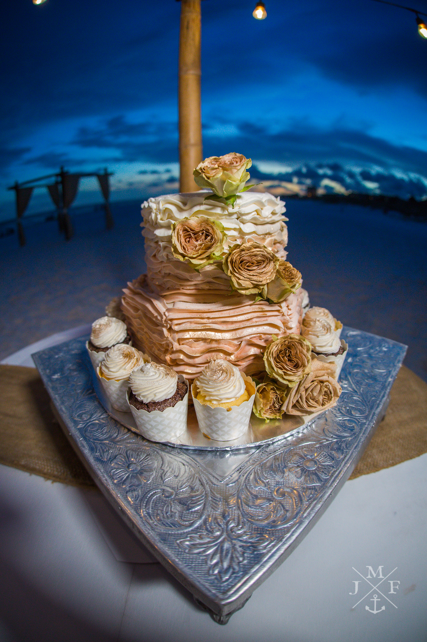 Crystal Beach Wedding Cake