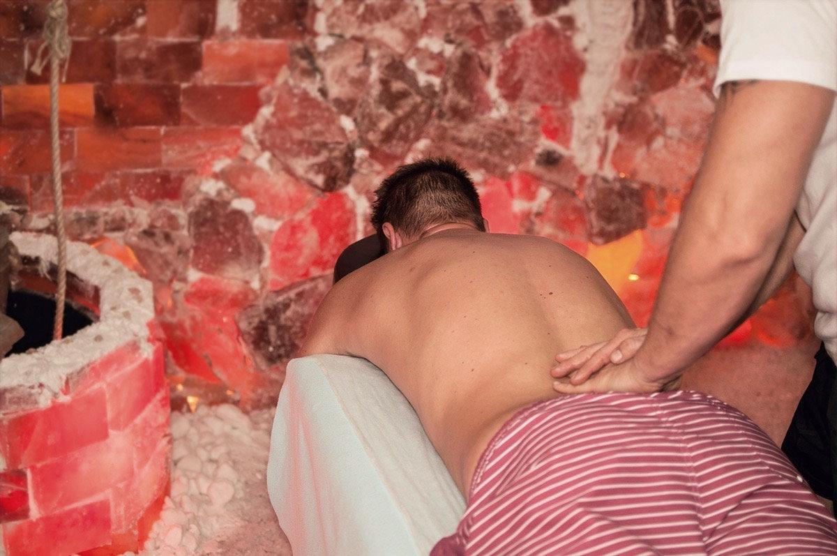 Masáž v soľnej jaskyni