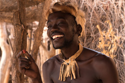 Damara bushmen, Namibia