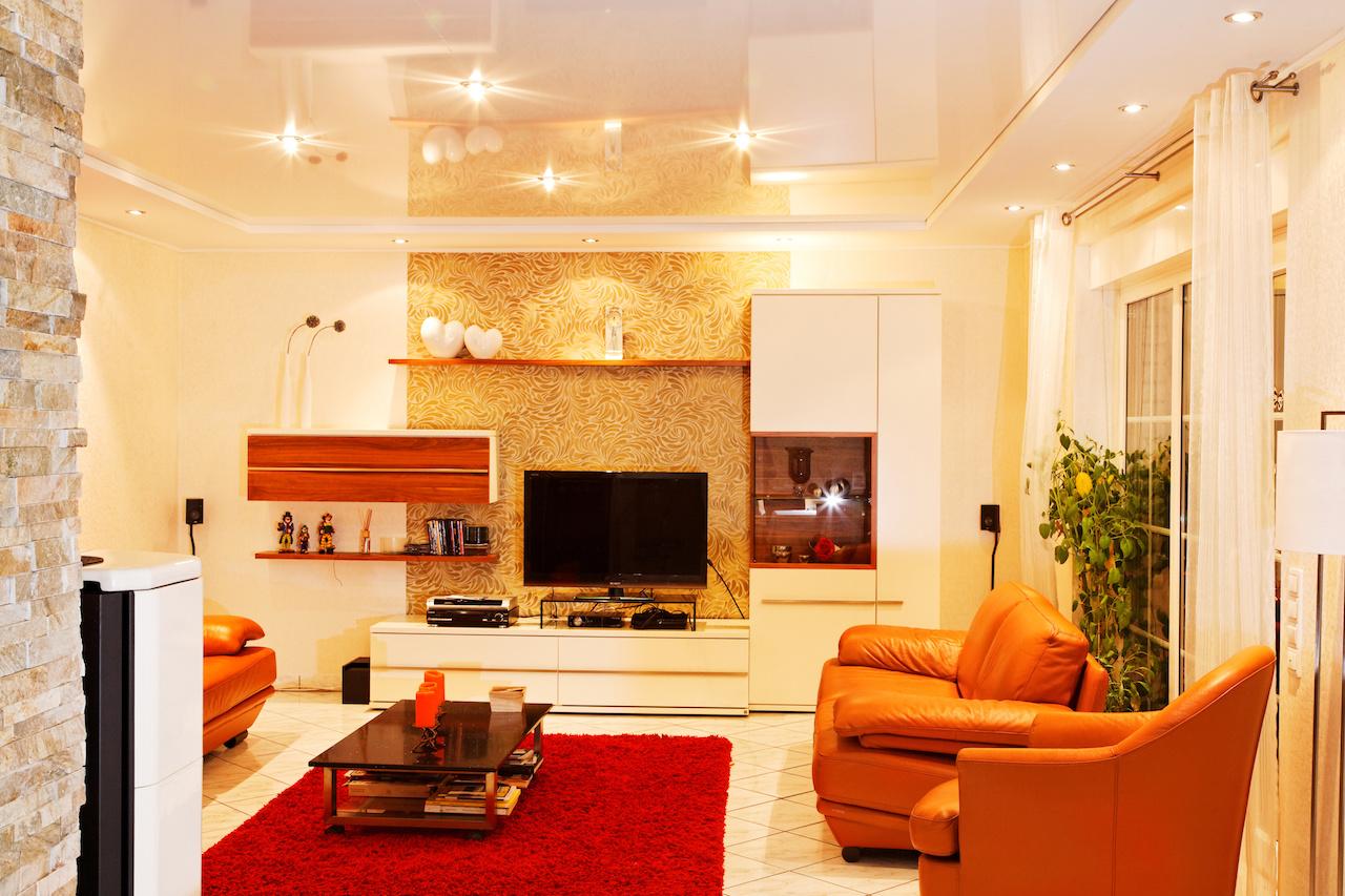 Living Room Stretch Ceiling