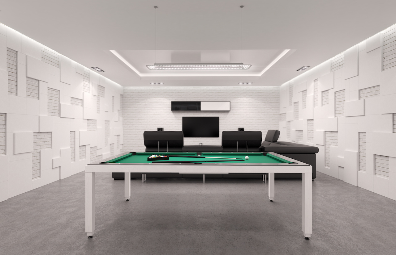 Pool & TV Stretch Ceiling