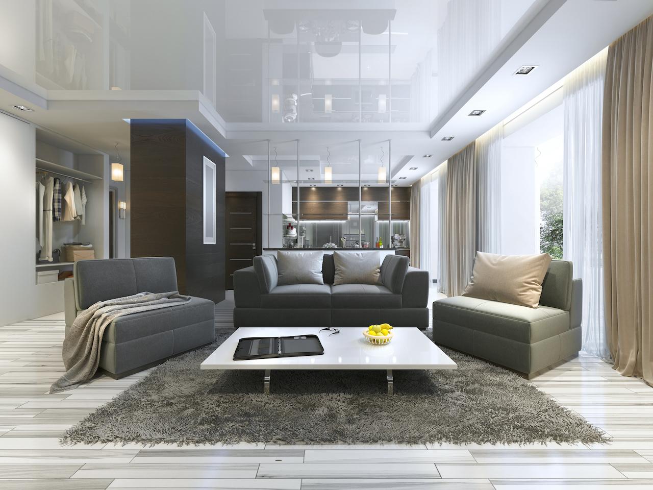Stretch Ceiling Design Living Room