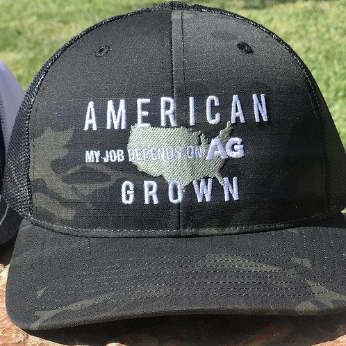 American Grown: MJDOA Black Camo Snap Back