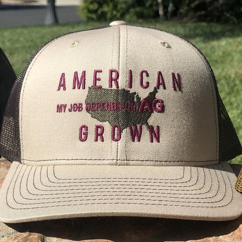 Khaki American Grown: My Job Depends on Ag Hat