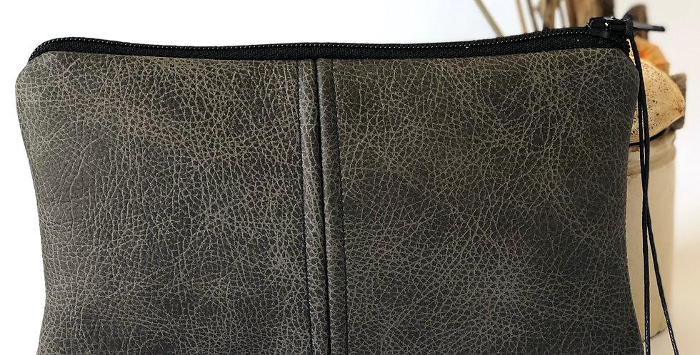 Dark Grey Leather Purse