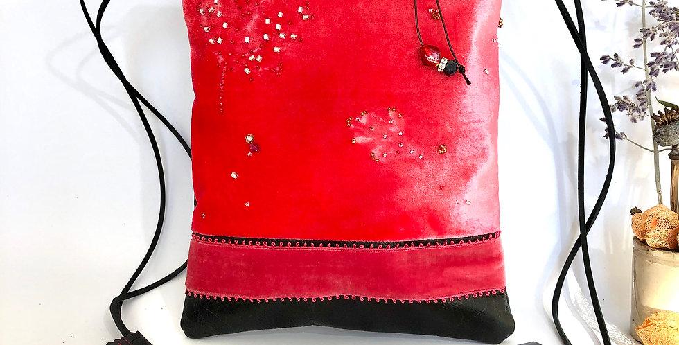 Rosehip Sorbet Devoré Velvet Notebook Bag