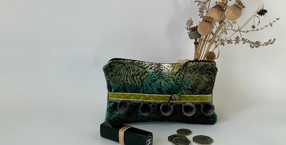 Green plush purse