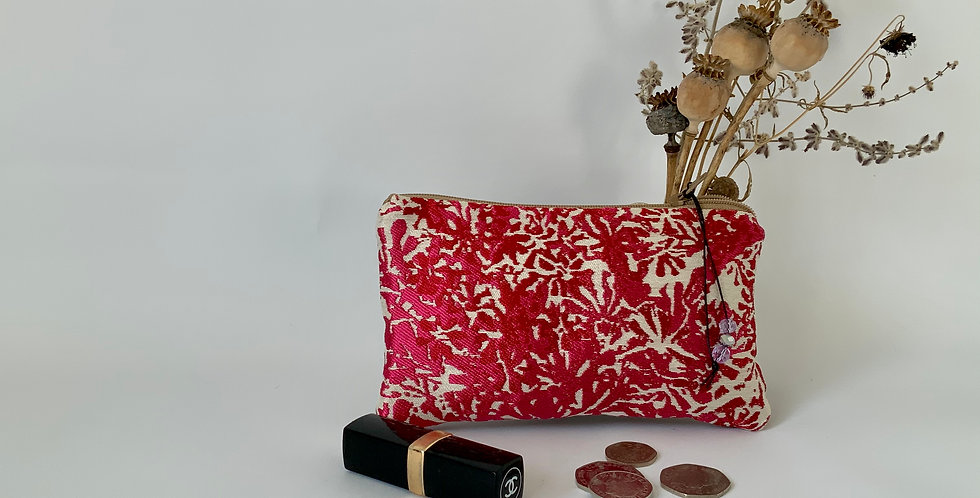Pink and Cream Silk Purse