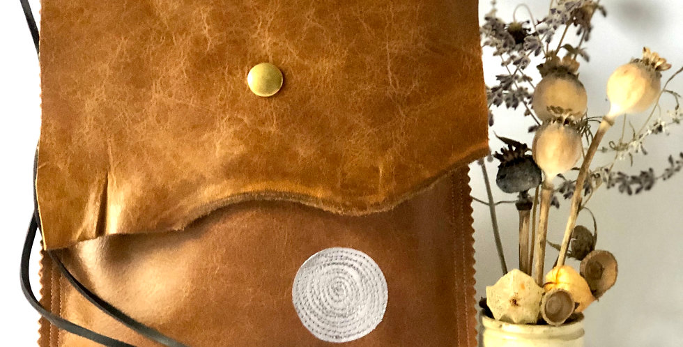 Tan Leather Satchel Bag