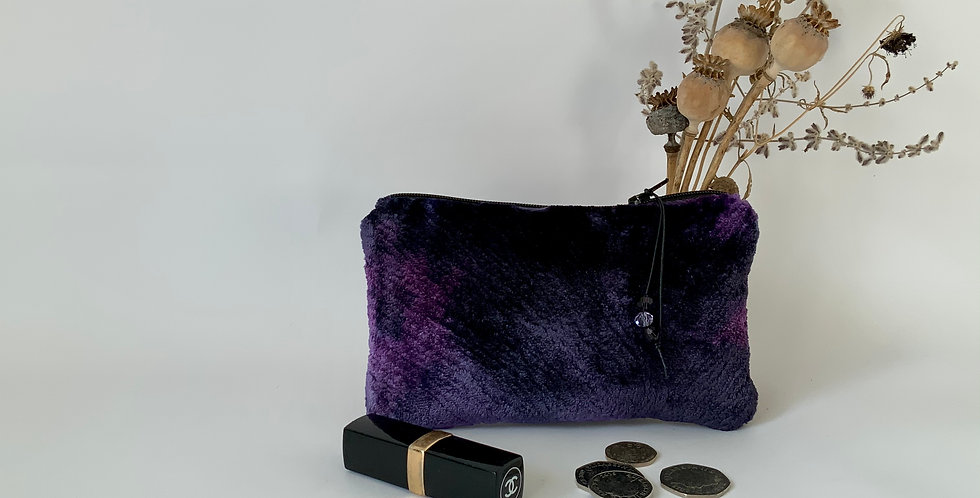Purple Plush Purse