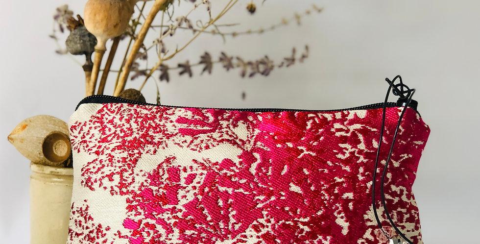Pink and Cream Silk purse