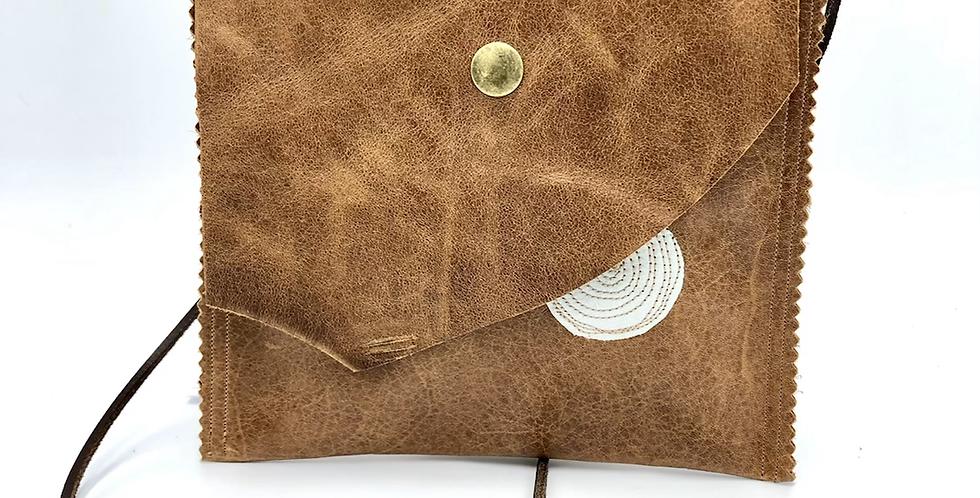 Small Tan Satchel Bag