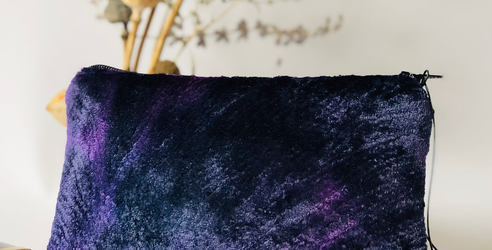 Purple Plush Purse