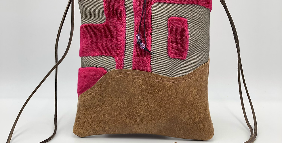 Pink geo notebook bag