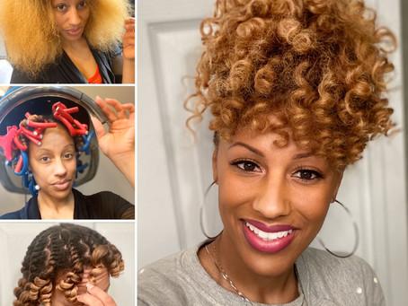 #NoHeatNovember: Natural Hair Roller Set