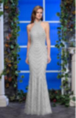 robe argentée