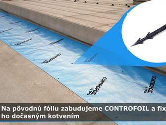 CONTROFOIL - dôležitá vrstva pri obnove plochej strechy