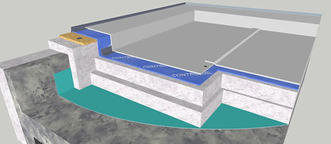 Conductive layer for conventional roof assemblies and high voltage testing