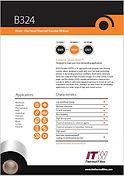 ITW B324 Data Sheet