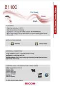 RICOH B110C Date Sheet