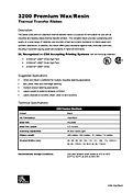 ZEBRA 3200 Data Sheet