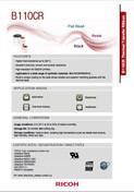 RICOH B110CR Data Sheet