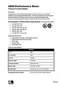 ZEBRA 4800 Data Sheet