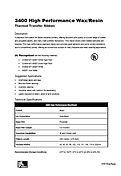 ZEBRA 3400 Data Sheet