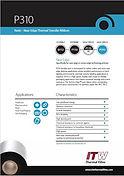 ITW P310 Data Sheet
