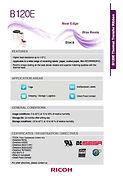 RICOH B120E Data Sheet