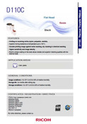 RICOH D110C Data Sheet