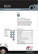 ITW B220 Data Sheet
