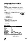 ZEBRA 5095 Data Sheet