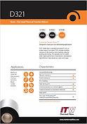 ITW D321 Data Sheet